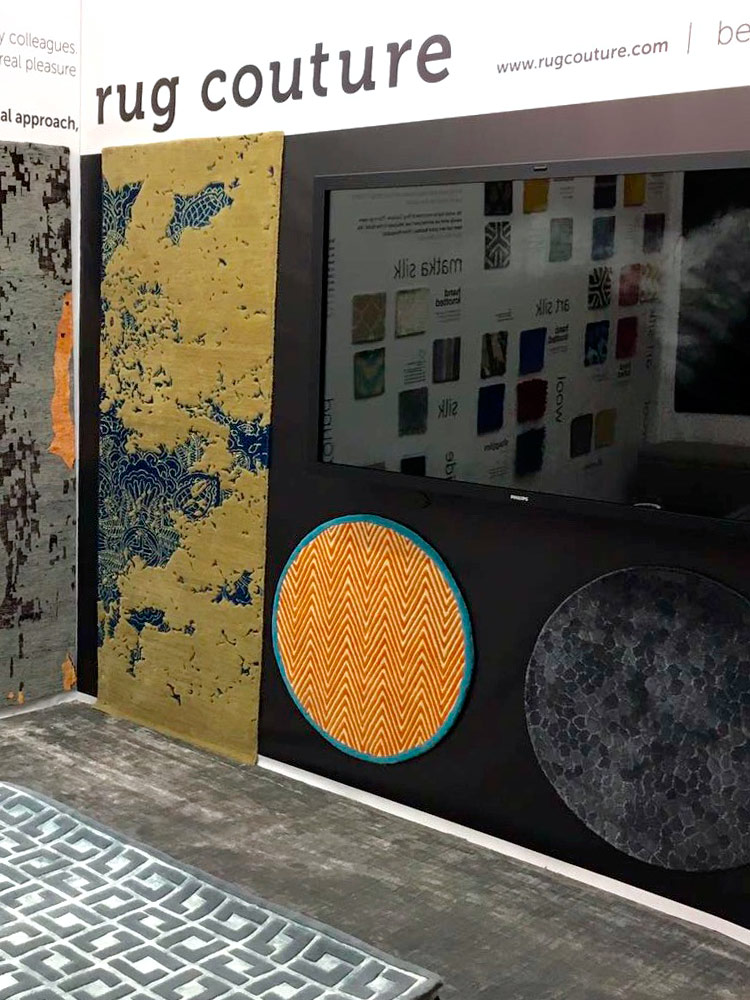 Rug couture rugs at Decorex 2016