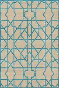Moroccan Teal - designer rug