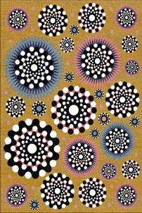 Family Mustard - designer rug