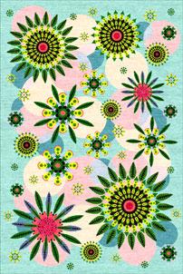 Ella Aqua - designer rug
