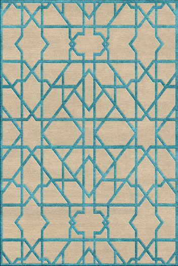 Moroccan Teal rug 1
