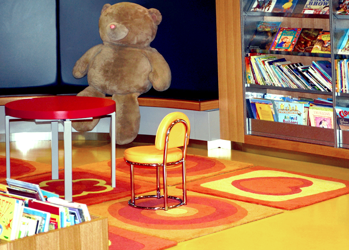 modular rugs - children's library