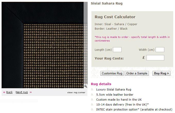 Custom Made Natural Rugs Sisal