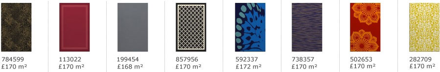 patterned and plain rugs