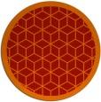 rug #1000017 | round red borders rug