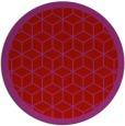 rug #1000025 | round red borders rug