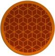 rug #1000029 | round red-orange popular rug