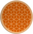 rug #1000033 | round red-orange popular rug