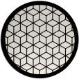 rug #1000045 | round black borders rug