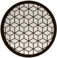 rug #1000057 | round brown borders rug