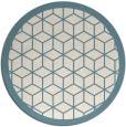 rug #1000065 | round blue-green borders rug