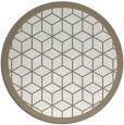 rug #1000069 | round beige geometry rug