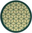 rug #1000089 | round yellow borders rug