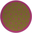 rug #1000101 | round light-green borders rug