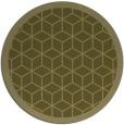 rug #1000105 | round light-green borders rug