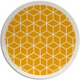 rug #1000109 | round light-orange geometry rug