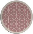 rug #1000113 | round pink rug