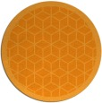 rug #1000117 | round light-orange geometry rug