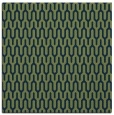 rug #1011589 | square blue graphic rug