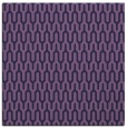 rug #1011645 | square blue-violet retro rug