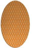 rug #1011909 | oval orange retro rug