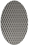 rug #1011913 | oval white graphic rug