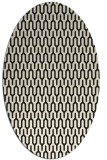 rug #1011933 | oval black retro rug