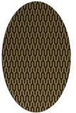 rug #1011937 | oval brown retro rug