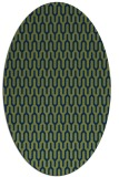 rug #1011953   oval blue graphic rug
