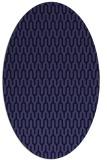 rug #1011997 | oval blue-violet rug