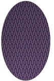 rug #1012009 | oval blue-violet graphic rug