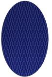 rug #1012013 | oval blue-violet rug