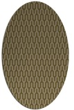 rug #1012025 | oval brown rug