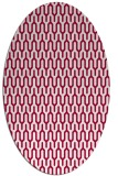 rug #1012029 | oval red graphic rug