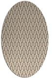 rug #1012061 | oval beige graphic rug