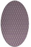 rug #1012089 | oval purple graphic rug