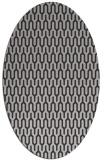 rug #1012121 | oval orange graphic rug