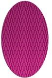 rug #1012125 | oval pink popular rug