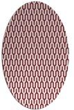rug #1012129 | oval pink retro rug