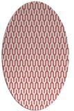 rug #1012139 | oval retro rug