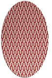rug #1012157 | oval red graphic rug