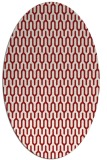 rug #1012165 | oval red graphic rug