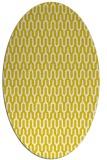 rug #1012197 | oval white retro rug