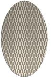 rug #1012217 | oval beige popular rug