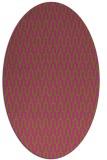 rug #1012249 | oval pink graphic rug