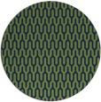 rug #1012681 | round green graphic rug