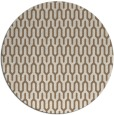 rug #1012789 | round mid-brown retro rug