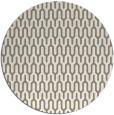 rug #1012793 | round mid-brown retro rug