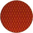 rug #1012837 | round red-orange retro rug