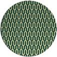 rug #1012965 | round blue-green retro rug